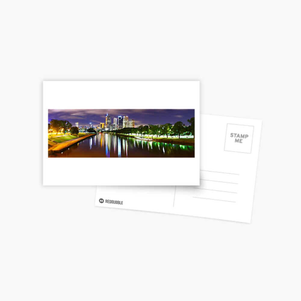 Yarra River by Night, Melbourne, Victoria, Australia Postcard
