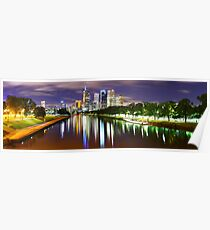 Yarra River by Night, Melbourne, Victoria, Australia Poster