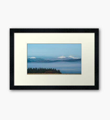 Misty Trossachs  Framed Print