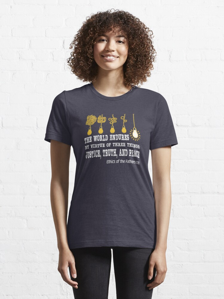 Alternate view of Justice, Truth, and Peace. Essential T-Shirt