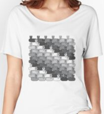 Stadium GeoBunnies Gray Scale Pattern Women's Relaxed Fit T-Shirt