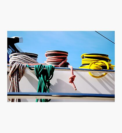 Colorcoded Ropes on a Boat? Photographic Print