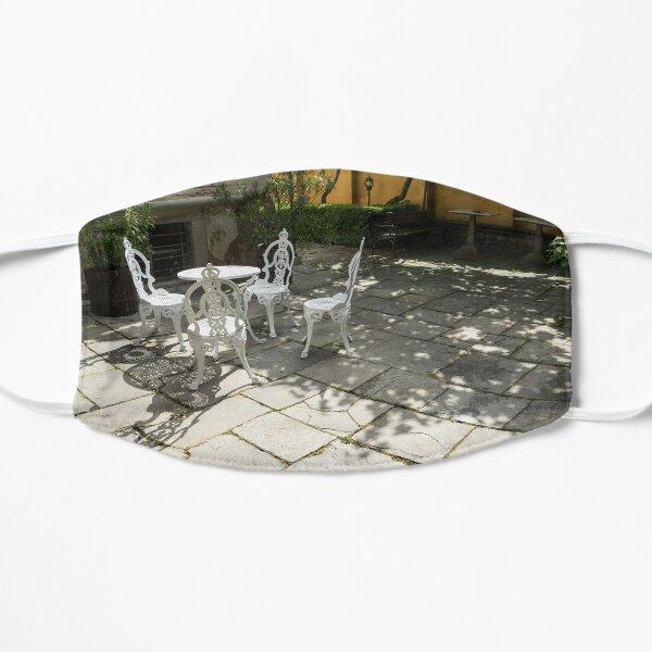 Sun Dappled Invitation - Ubercharming Courtyard with Elegant Cast Iron Furniture Mask