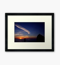 CANON BEACH SUNSET~ Framed Print
