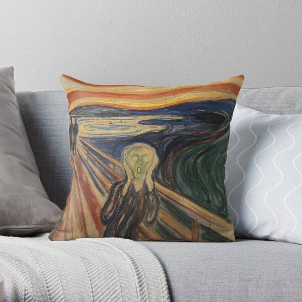 The Scream by Munch Throw Pillow