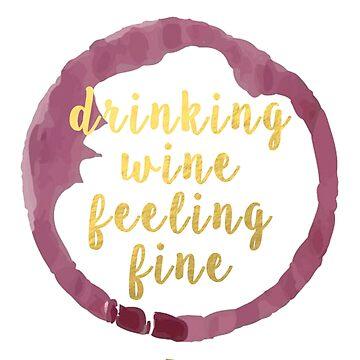 bebiendo vino sintiéndose bien de casmar