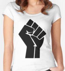 Raised Fist / Black Power Symbol Women's Fitted Scoop T-Shirt