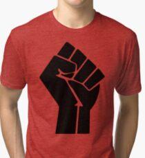 Raised Fist / Black Power Symbol Tri-blend T-Shirt