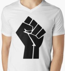 Raised Fist / Black Power Symbol Men's V-Neck T-Shirt