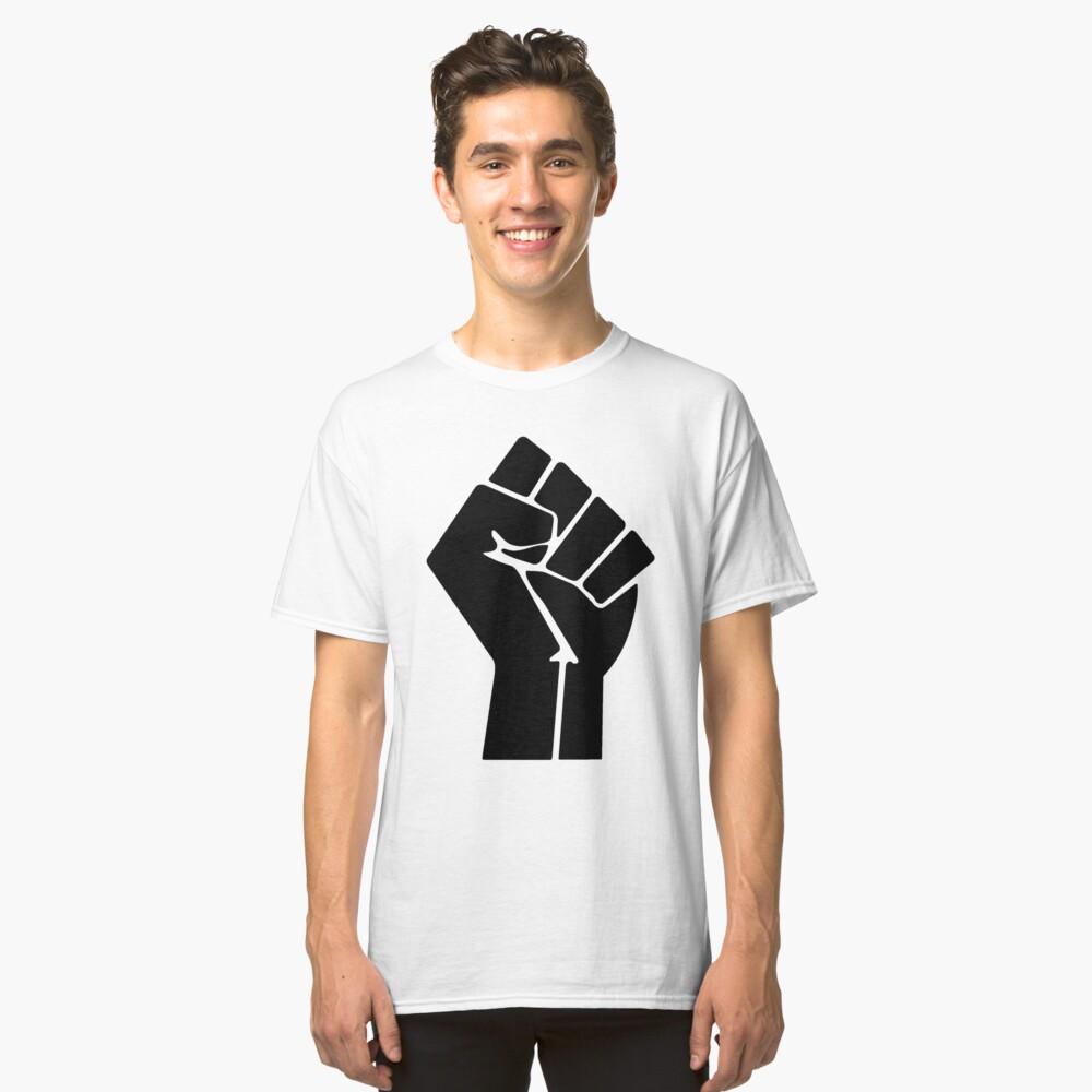 Raised Fist / Black Power Symbol Classic T-Shirt Front