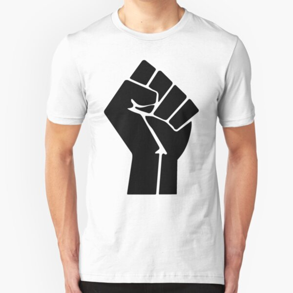 Raised Fist Black Power Symbol Slim Fit T-Shirt