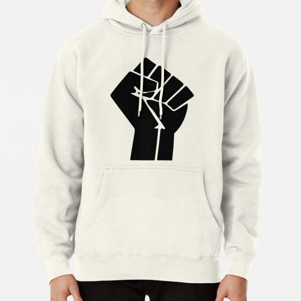 Raised Fist Black Power Symbol Pullover Hoodie