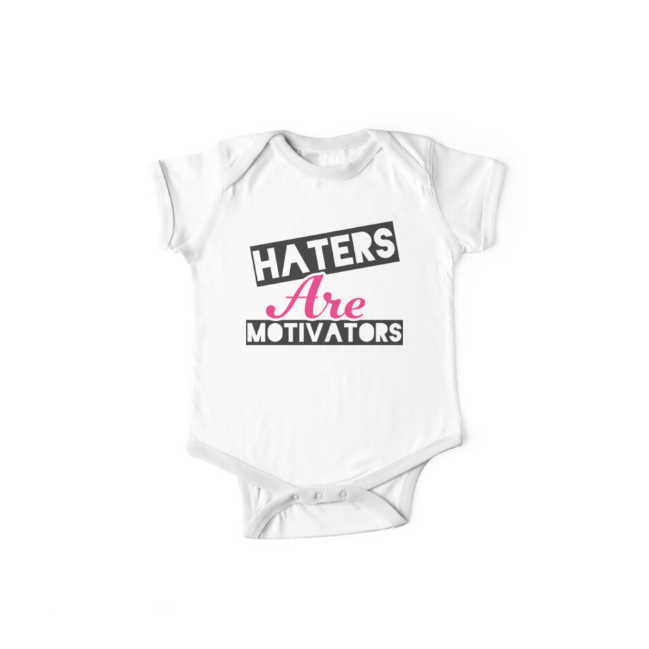 Haters Are Motivators (Black, Pink) by Fitspire Apparel