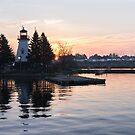Soft Rose Daybreak at the Lighthouse by Georgia Mizuleva