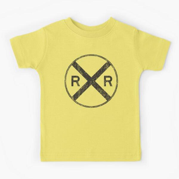 classic railroad crossing warning sign Kids T-Shirt