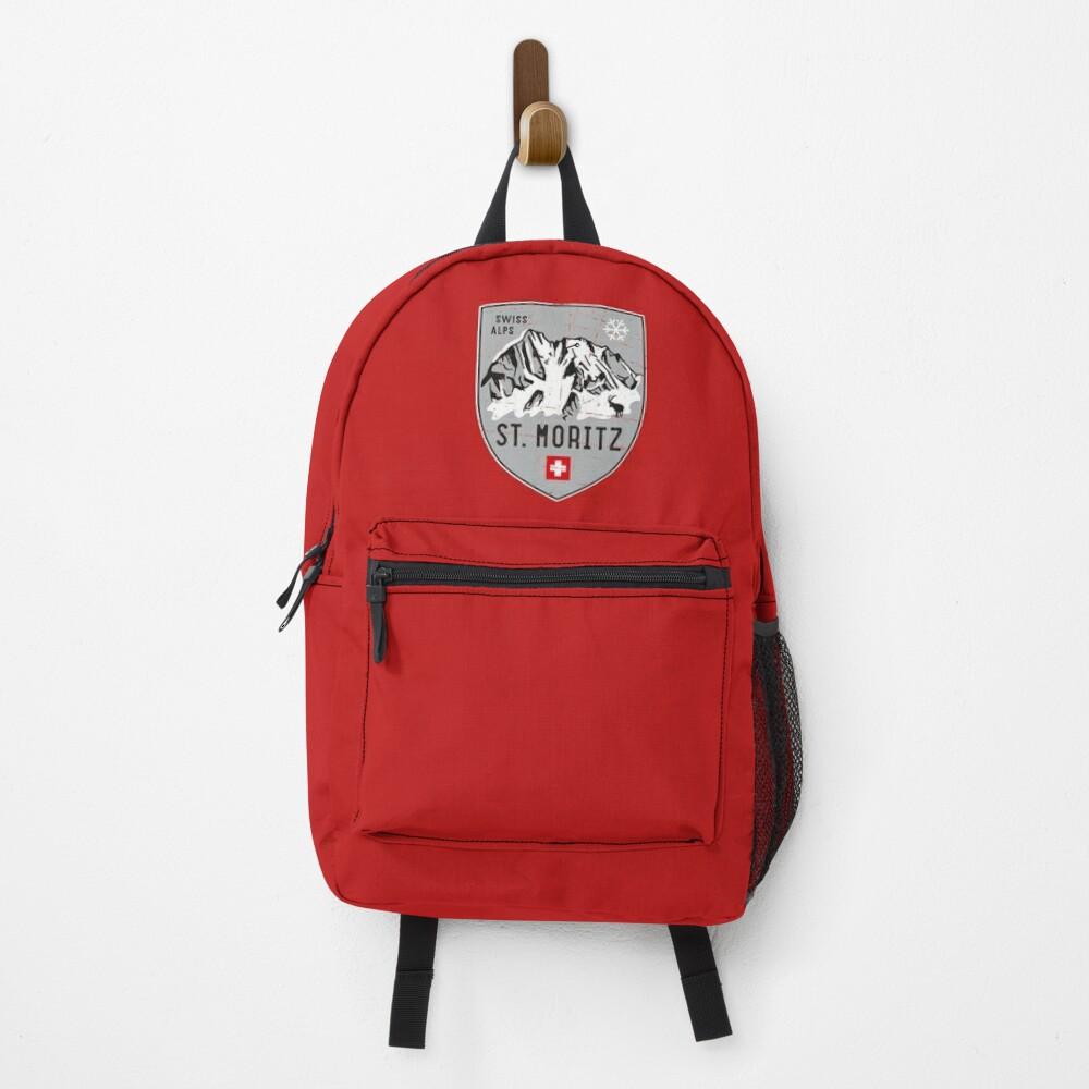 St. Moritz Switzerland Emblem Backpack