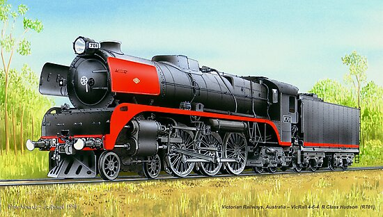 VicRail 4-6-4 R Class Hudson (R701) by LocomotiveArt