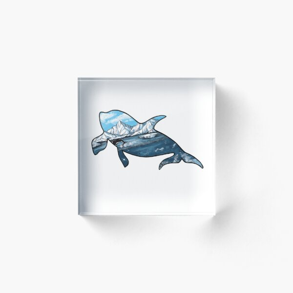 #saveourplanet for the whales Acrylic Block