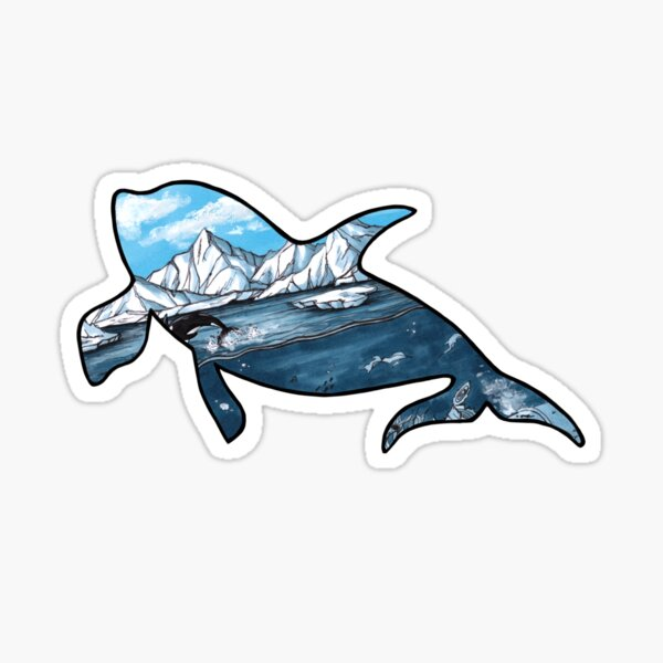 #saveourplanet for the whales Sticker