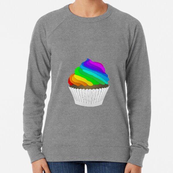 Rainbow cupcake Lightweight Sweatshirt