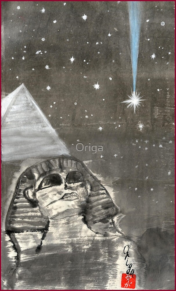 Sphinx and Pyramid II by Origa
