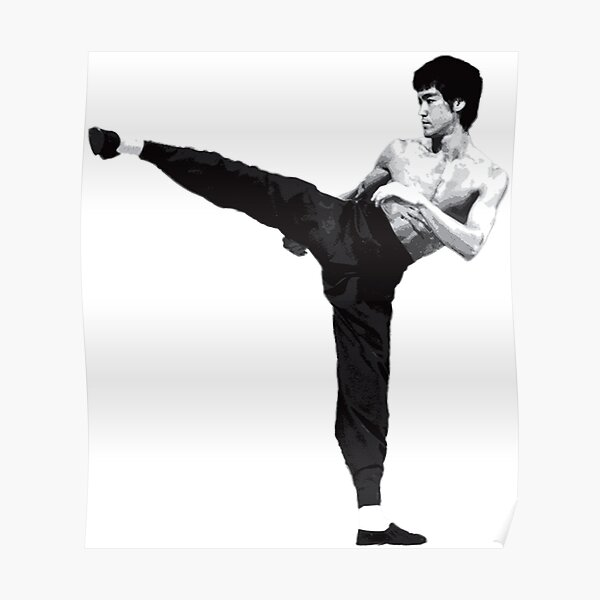 Bruce Lee POWER KICK Poster