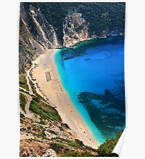 Myrtos beach & Casper the friendly ghost Poster
