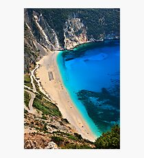 Myrtos beach & Casper the friendly ghost Photographic Print