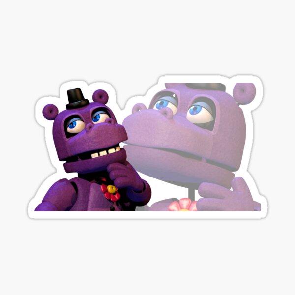 Pensamientos profundos del Sr.Hipopótamo Pegatina