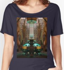 The inside of the Tardis Women's Relaxed Fit T-Shirt