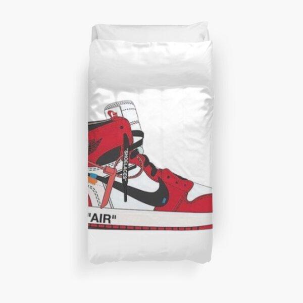 zapatilla roja y blanca Funda nórdica