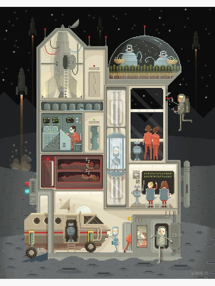 Moon Base by pixelshuh