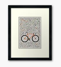 Fixed gear bikes Framed Print