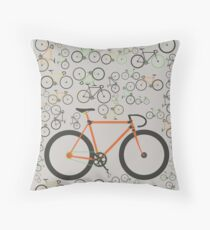 Fixed gear bikes Throw Pillow