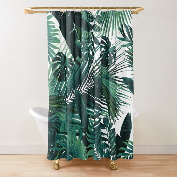 Jungle Leaves Siesta #2 #tropical #decor #art  Shower Curtain