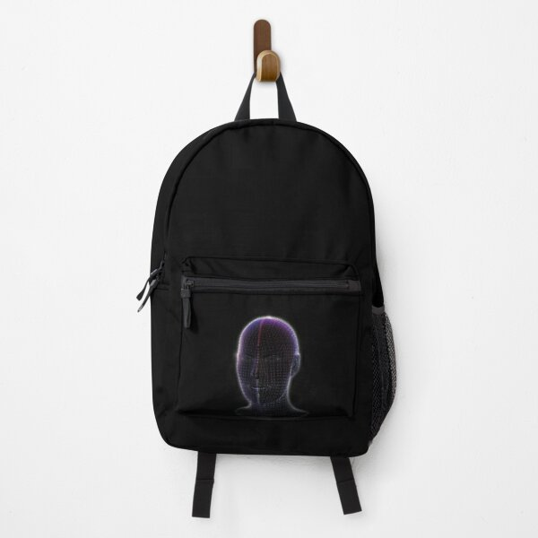 Smiling wireframe Head  Backpack
