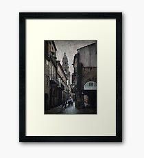 A Rúa do Vilar Framed Print