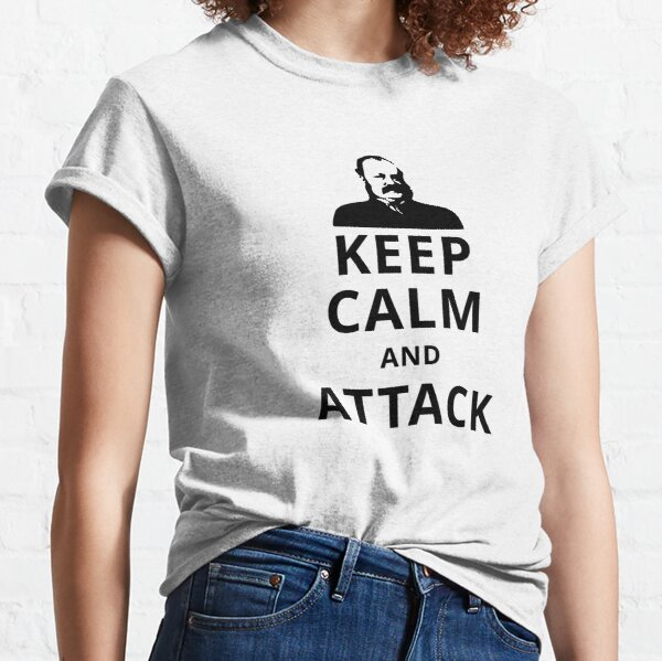 Chess Keep Calm and Attack (Thomas Wilson Barnes) Classic T-Shirt