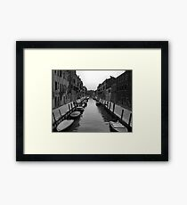 "Typical ""Street"" in Venice Framed Print"