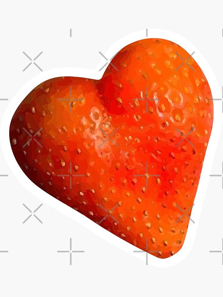 Strawberry Heart Sticker by carlarmes
