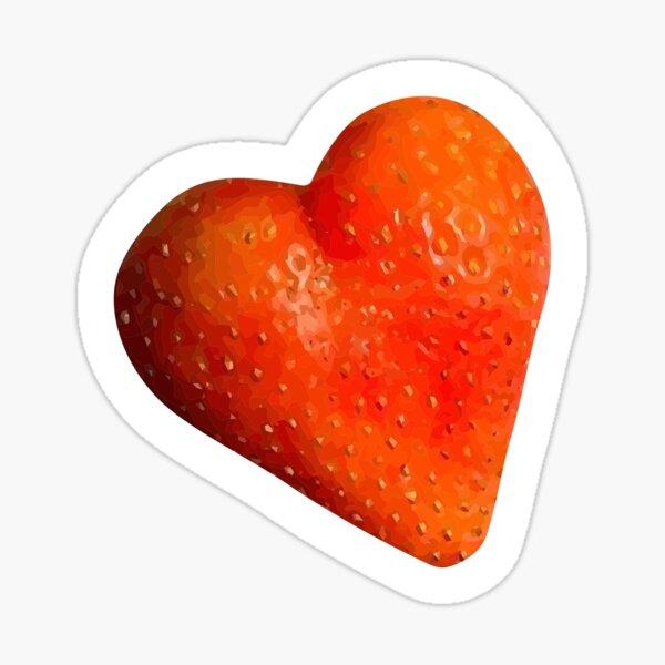 Strawberry Heart Sticker Sticker