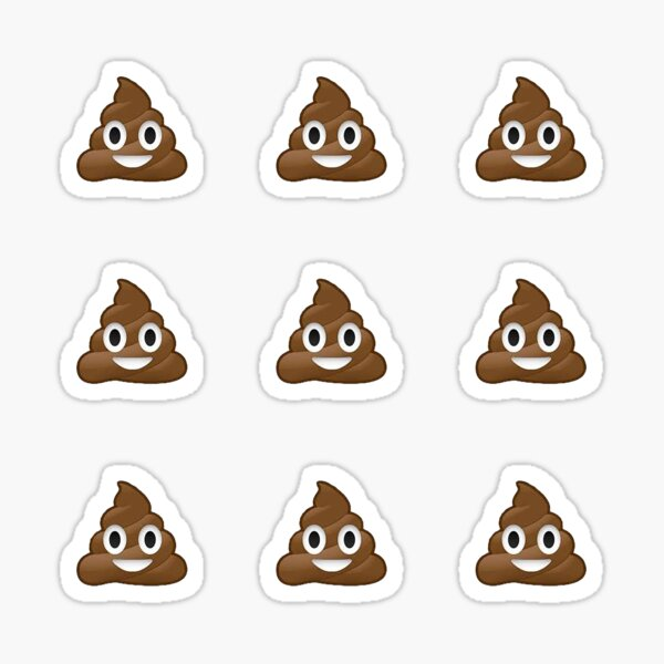 Pile of poo - caca merde emoji set pack collection - Cool moto ou drôle casque autocollants Sticker