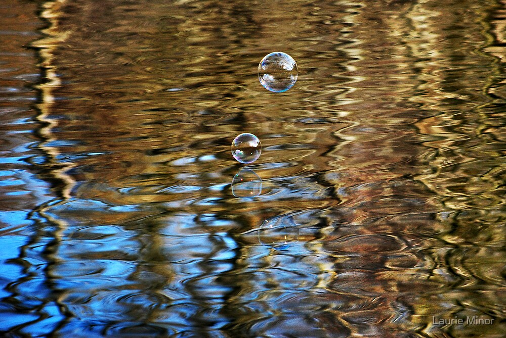 Bubbles & Golden ZigZags by Laurie Minor