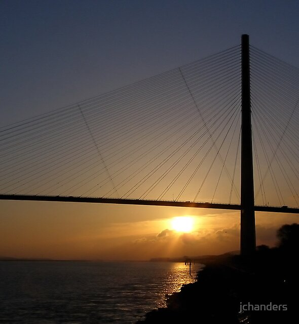 Sunrise at the Pont de Normandy by jchanders