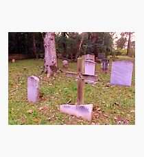 Grave Marker Cross Artistic Photograph by Shannon Sears Photographic Print