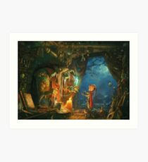 The Troll and the Boy Art Print