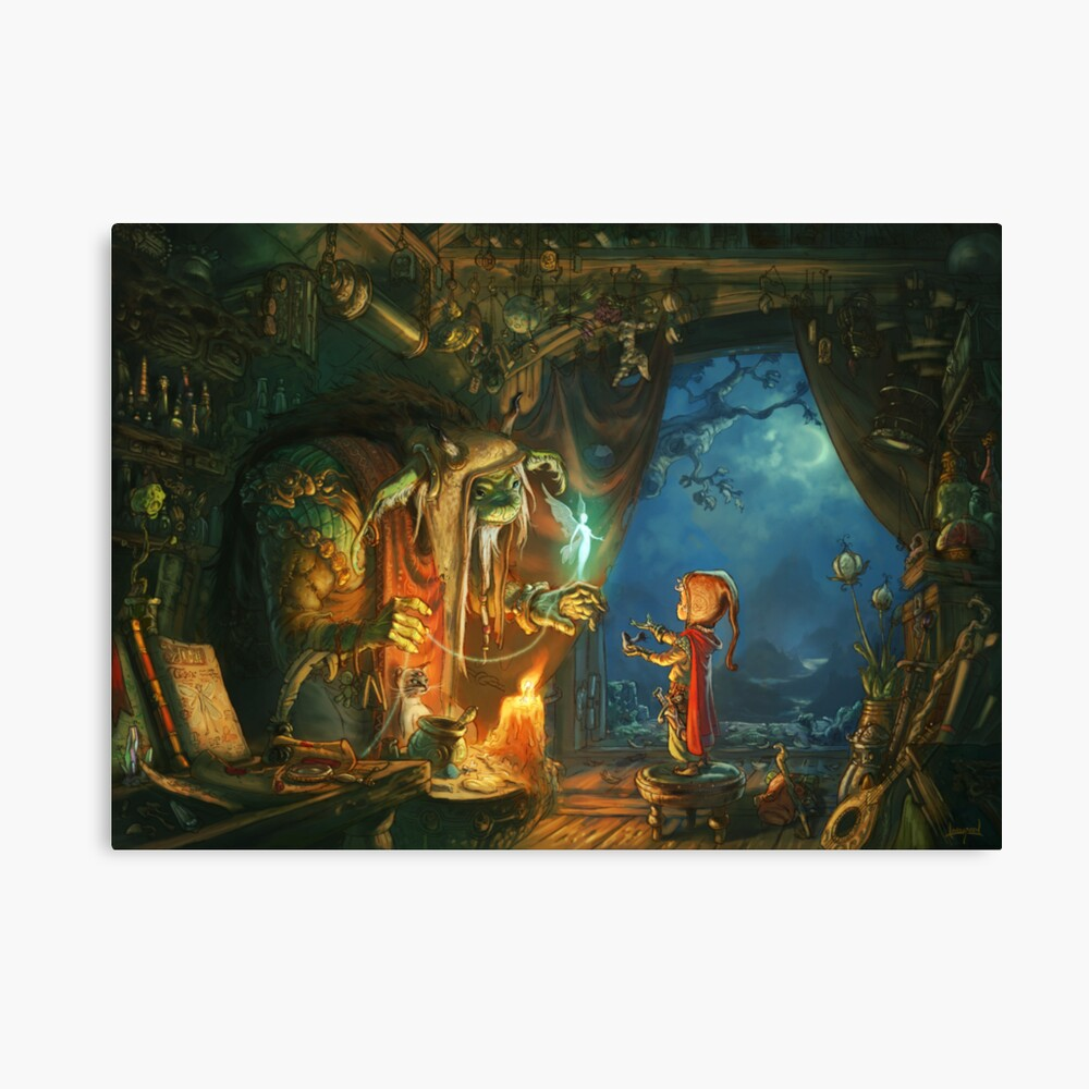 The Troll and the Boy Canvas Print