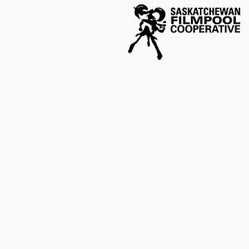 Saskatchewan Filmpool Cooperative logo over the heart 1 - black by SaskFilmpool