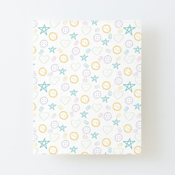 Gender Neutral Nursery Pattern, Lemon Canvas Mounted Print