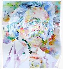 MARK TWAIN - watercolor portrait Poster